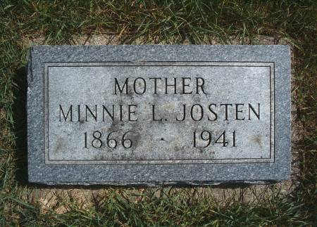 JOSTEN, MINNIE L - Hancock County, Iowa | MINNIE L JOSTEN
