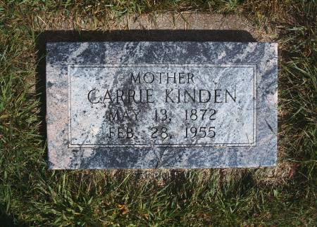 KINDEN, CARRIE - Hancock County, Iowa   CARRIE KINDEN