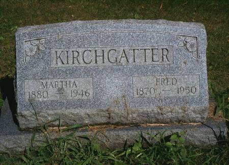 KIRCHGATTER, MARTHA - Hancock County, Iowa | MARTHA KIRCHGATTER