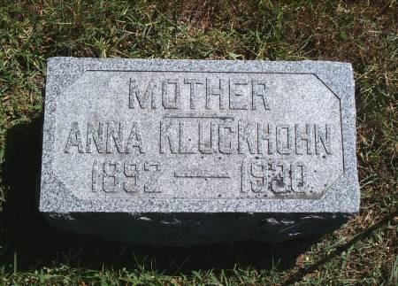 LILJENBERG KLUCKHOHN, ANNA - Hancock County, Iowa | ANNA LILJENBERG KLUCKHOHN