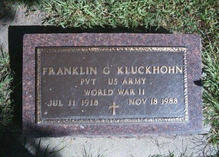 KLUCKHOHN, FRANKLIN G - Hancock County, Iowa   FRANKLIN G KLUCKHOHN