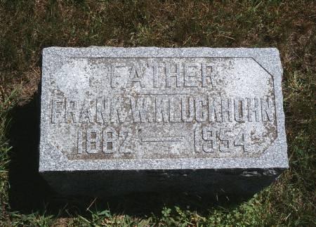 KLUCKHOHN, FRANK W - Hancock County, Iowa | FRANK W KLUCKHOHN