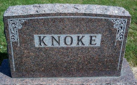 KNOKE, FAMILY MONUMENT - Hancock County, Iowa | FAMILY MONUMENT KNOKE