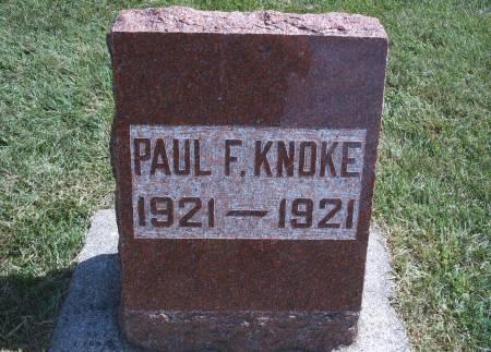 KNOKE, PAUL F - Hancock County, Iowa   PAUL F KNOKE