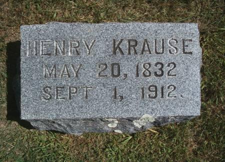 KRAUSE, HENRY - Hancock County, Iowa   HENRY KRAUSE