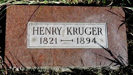 KRUGER, HENRY - Hancock County, Iowa | HENRY KRUGER