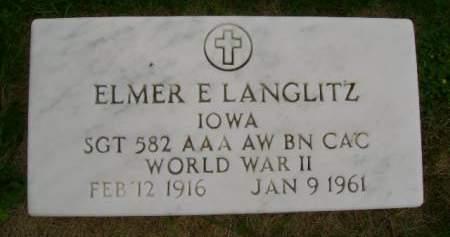 LANGLITZ, ELMER E - Hancock County, Iowa | ELMER E LANGLITZ