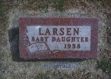 LARSEN, INFANT - Hancock County, Iowa | INFANT LARSEN