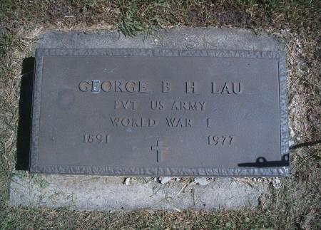 LAU, GEORGE B - Hancock County, Iowa | GEORGE B LAU