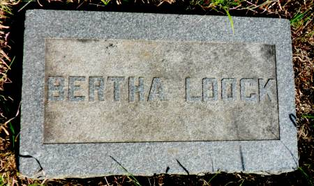 LOOCK, BERTHA - Hancock County, Iowa | BERTHA LOOCK