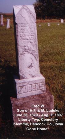 LUDEKE, FRED W - Hancock County, Iowa | FRED W LUDEKE