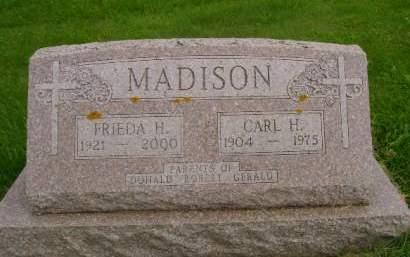 MADISON, FRIEDA H - Hancock County, Iowa | FRIEDA H MADISON