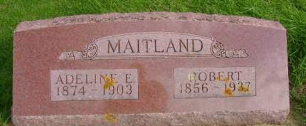 MAITLAND, ADELINE E - Hancock County, Iowa   ADELINE E MAITLAND