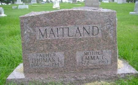MAITLAND, THOMAS L - Hancock County, Iowa   THOMAS L MAITLAND