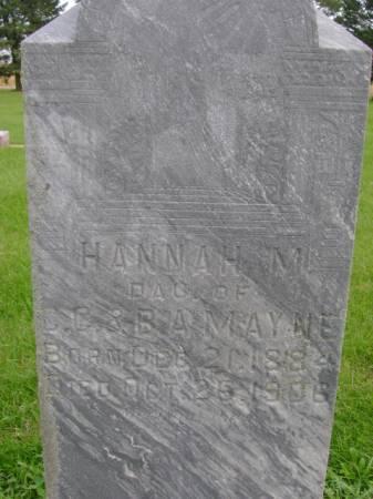 MAYNE, HANNAH  M - Hancock County, Iowa   HANNAH  M MAYNE