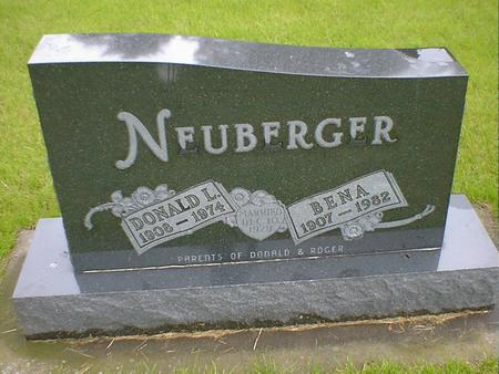 NEUBERGER, DONALD L - Hancock County, Iowa   DONALD L NEUBERGER