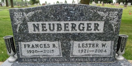 NEUBERGER, FRANCES B - Hancock County, Iowa | FRANCES B NEUBERGER