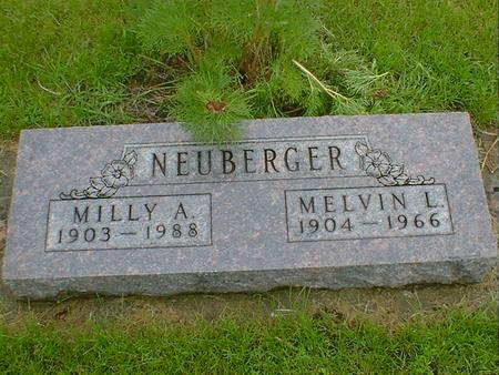 NEUBERGER, MILLY A - Hancock County, Iowa | MILLY A NEUBERGER