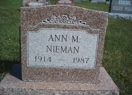 NIEMAN, ANN M - Hancock County, Iowa | ANN M NIEMAN