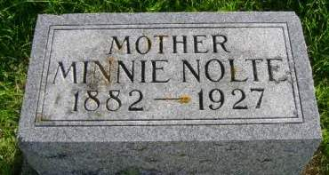 NOLTE, MINNIE - Hancock County, Iowa | MINNIE NOLTE