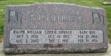 NUEHRING, INFANT - Hancock County, Iowa | INFANT NUEHRING