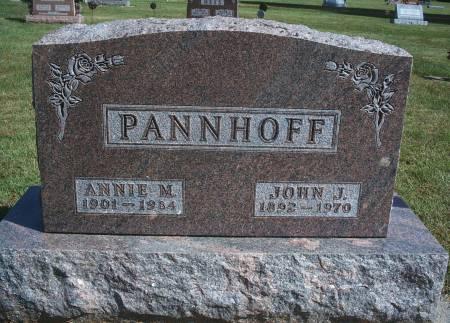HEGINGER PANNHOFF, ANNIE M - Hancock County, Iowa   ANNIE M HEGINGER PANNHOFF