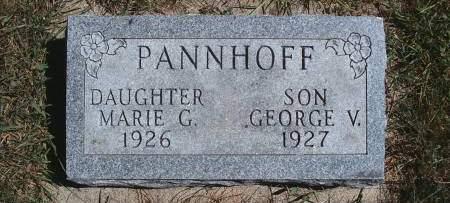 PANNHOFF, GEORGE V - Hancock County, Iowa | GEORGE V PANNHOFF