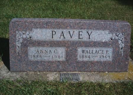 PAVEY, WALLACE F - Hancock County, Iowa   WALLACE F PAVEY