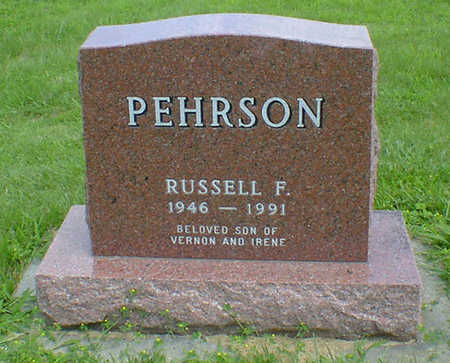 PEHRSON, RUSSELL F - Hancock County, Iowa | RUSSELL F PEHRSON