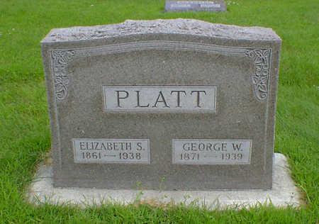 PLATT, GEORGE W - Hancock County, Iowa   GEORGE W PLATT