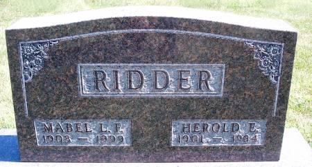 RIDDER, MABEL L - Hancock County, Iowa | MABEL L RIDDER