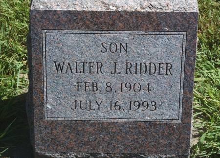 RIDDER, WALTER J - Hancock County, Iowa | WALTER J RIDDER