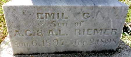RIEMER, EMIL G - Hancock County, Iowa | EMIL G RIEMER