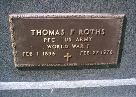 ROTHS, THOMAS F - Hancock County, Iowa | THOMAS F ROTHS