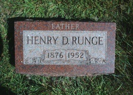 RUNGE, HENRY D - Hancock County, Iowa | HENRY D RUNGE