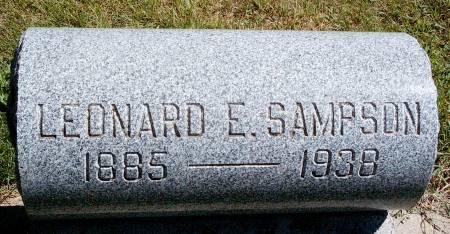 SAMPSON, LEONARD E - Hancock County, Iowa | LEONARD E SAMPSON