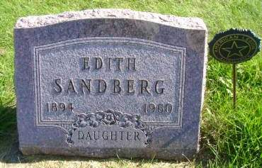 SANDBERG, EDITH - Hancock County, Iowa   EDITH SANDBERG