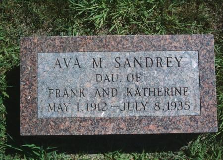 SANDREY, AVA M - Hancock County, Iowa | AVA M SANDREY