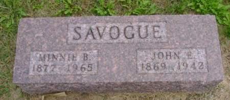 SAVOGUE, MINNIE B - Hancock County, Iowa   MINNIE B SAVOGUE