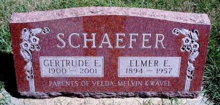 SCHAEFER, ELMER E - Hancock County, Iowa | ELMER E SCHAEFER