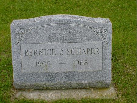 SCHAPER, BERNICE P - Hancock County, Iowa   BERNICE P SCHAPER