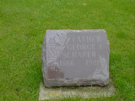 SCHAPER, GEORGE I - Hancock County, Iowa | GEORGE I SCHAPER