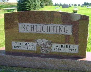 SCHLICHTING, ALBERT T - Hancock County, Iowa | ALBERT T SCHLICHTING