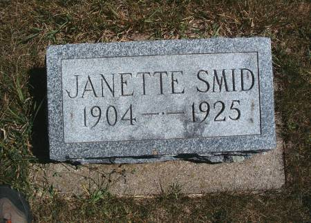 SMID, JANETTE - Hancock County, Iowa | JANETTE SMID