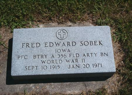 SOBEK, FRED E - Hancock County, Iowa | FRED E SOBEK
