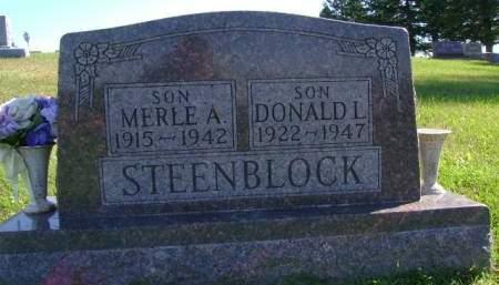 STEENBLOCK, DONALD L - Hancock County, Iowa   DONALD L STEENBLOCK