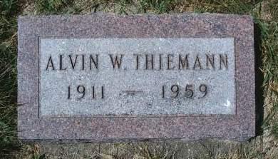 THIEMANN, ALVIN W - Hancock County, Iowa | ALVIN W THIEMANN