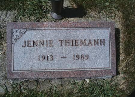 THIEMANN, JENNIE - Hancock County, Iowa   JENNIE THIEMANN