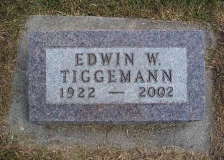 TIGGEMANN, EDWIN W - Hancock County, Iowa | EDWIN W TIGGEMANN