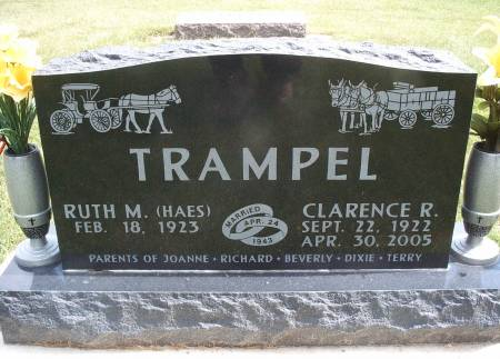 TRAMPEL, CLARENCE R - Hancock County, Iowa   CLARENCE R TRAMPEL